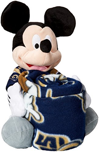 NFL Los Angeles Rams Mickey Hugger Pillow & Fleece Throw Blanket Set, 40