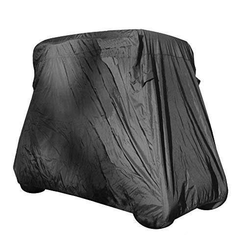 Deluxe 4 Seater Golf Cart Cover roof 80' L (Grey, Taupe, or Green), Fits E Z GO, Club Car and Yamaha G Model - Fits GEM e2