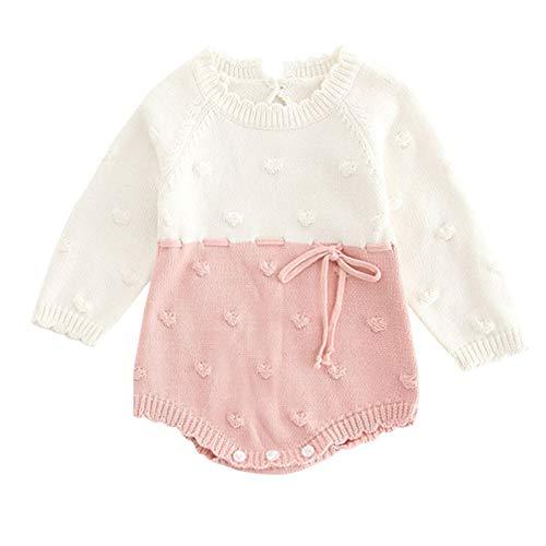 ALIKEEY Infant Mignon Nouveau-né Bébé Garçon Fille Tricot Barboteuse Body Crochet Vêtements Tenues Manteaux Et Blousons Cadeau De Noël pour Votre Bébé