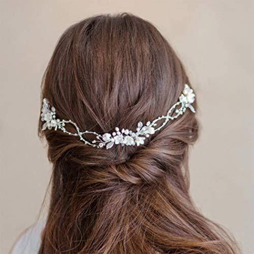 Simsly Diadema de novia para el pelo de la novia de la...
