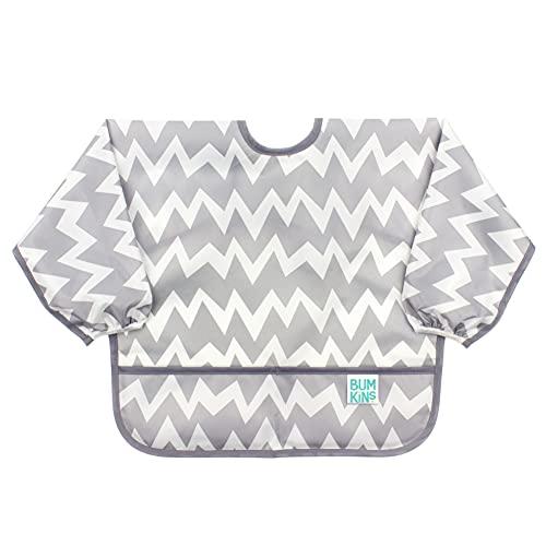 Product Image of the Bumkins Sleeved Bib Baby Bib, Toddler Bib, Smock, Waterproof Fabric, Fits Ages...