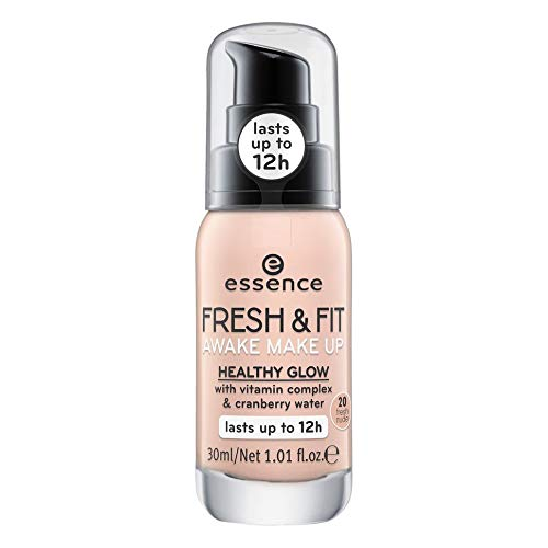 essence fresh & fit awake make up 20 fresh nude - 3er Pack