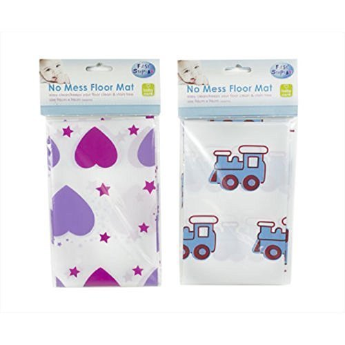 1 x pas de saleté Tapis de sol Chaise haute pour bébé biberon Coque Splash enfants (Pink Hearts)