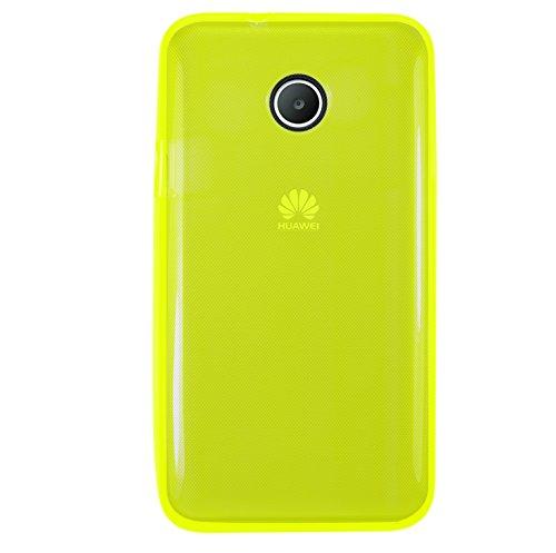 Phonix TPU Fluo Hülle mit Bildschirmschutzfolie für Huawei Ascend Y330 gelb
