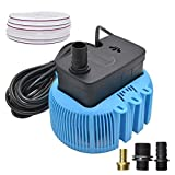 9. Pool Cover Pump Above Ground Sump Pumps 850GPH Water Removal With 3 Adapters 16ft Drainage Hose (Blue)