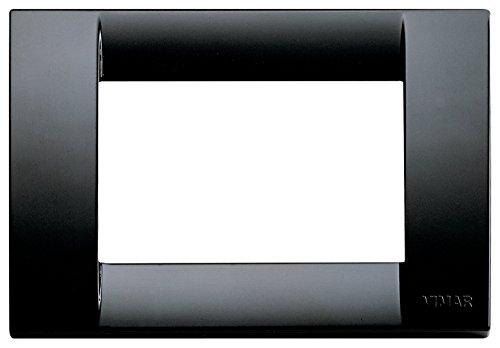 VIMAR, 16743.16 Idea Placca Classica 3 moduli in tecnopolimero, nero, 1 Pezzo