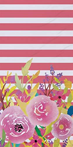 Sticker Superb Súper Absorbente Flor Toallas de Playa Suave Poliéster Terciopelo Viajar Deportes Yoga Nadando Toalla Chica Chico Hombre Mujer Verano (Rosa, 75 x 150 cm)