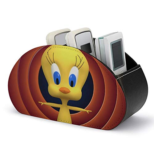 T-weety Bird Multi-Cell Almacenamiento de escritorio, material de cuero, para almacenamiento de...