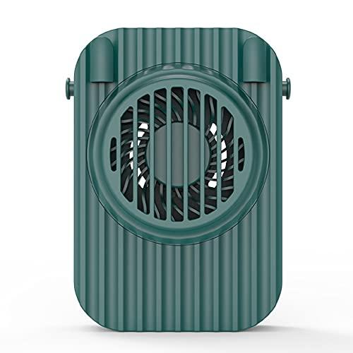 XAENG Mini Fan, Ventilador De Cuello Colgante Portátil, Usos Múltiples, Diseño Ultra Tranquilo Y Amplio De 3 Velocidades, Oficina En Casa De Escritorio Portátil Al Salir (Verde)