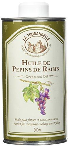 La Tourangelle Huile de Pépins de Raisin Neutre pour Cuissons Haute Température, 500 ml