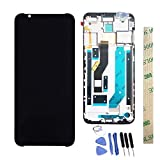 Dr.Chans LCD Display Screen Touch Digitizer Assembly Replacement with Free Tools for ZTE Nubia Red Magic 3 NX629J Black with Frame