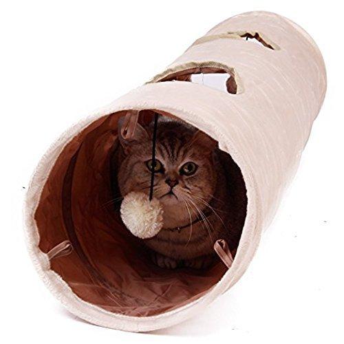 Giochi per Gatti,Giochi Tunnel Gatto, Giocattolo del Piccoli Animali 120x25cm