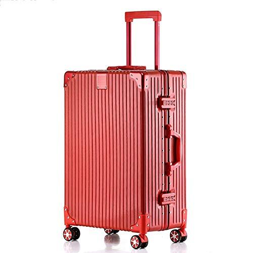 L@LILI Trolley Koffer Koffer Koffer Passwort Box Mode Lampe klassischen gestreiften Koffer weiblichen Koffer männlich Boarding Chassis,C,22inches