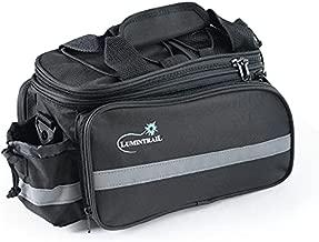 Lumintrail Bike Rack Bag, Expandable Rear Trunk Bicycle Carrier Commuter Pannier Handbag with a Waterproof Rain Cover
