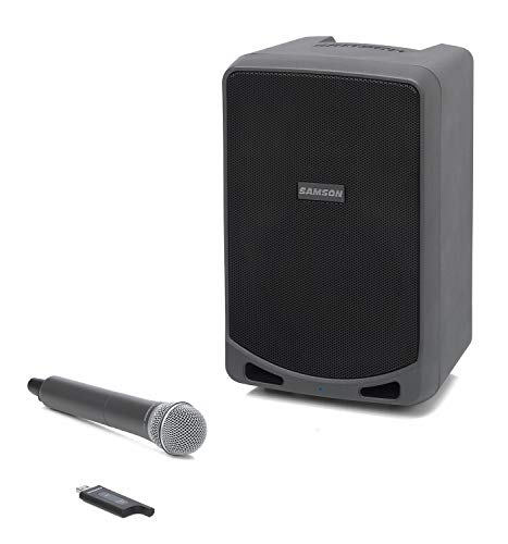 Samson Technologies Expedition XP106w - Rechargeable Portable PA with Handheld Wireless System and Bluetooth, Black