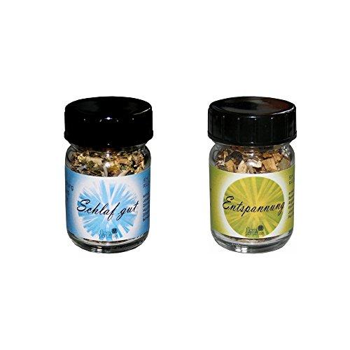 flora perpetua Thomas Kinkele e.K. Räucherung Wunsch-Räuchermischung 2er Set Schlaf GUT und ENTSPANNUNG, in 50 ml Glasfläschchen