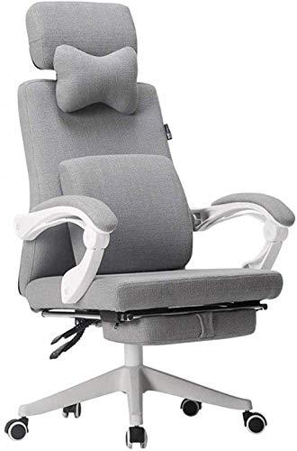 Bürostuhl Spielstuhl Ergonomischer Stoff Chefsessel Schreibtischstuhl 360° Drehstuhl mit ineinandergreifenden Armlehnen Sessel