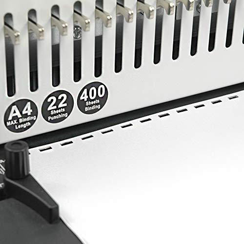コームリング製本機多穴パンチA4サイズ/21穴製本枚数400枚/穴あけ枚数22枚