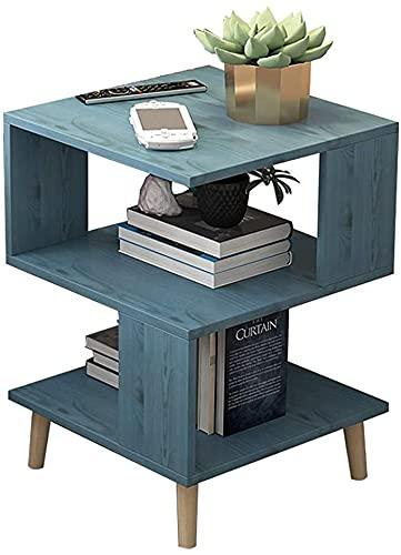 HIGHKAS Massivholz quadratischer Beistelltisch Moderner Stauraum Kleiner Schrank Couchtisch Schlafzimmer Nachttisch Schließfach Nachttisch