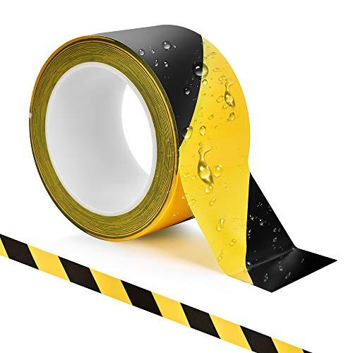 Siumir Cinta Distancia Seguridad Cinta Señalizacion Suelo 47 mm x 33 m Cinta de Seguridad (60 mm)