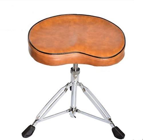 HYDD Drum Kruk, In hoogte verstelbaar 34-64cm gewatteerde Trommeltrommel Kruk, Draaibaar, Gitarist Drummers Music Rock Band Stoel, Universele Trommelstoel - Zwart, Bruin