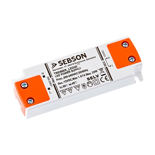 SEBSON® LED Transformateur Driver 20W
