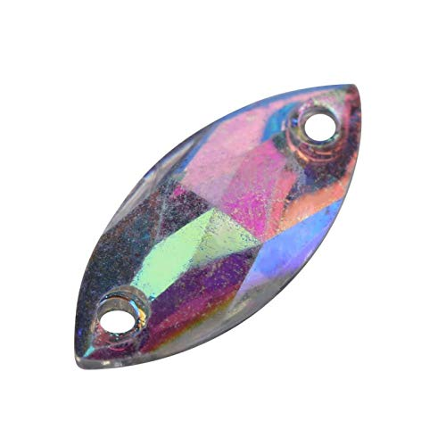 Jeanoko Práctico y bonito botón de acrílico con costura en forma de gota de resina y botón para zapatos, pulsera y collar (#3)