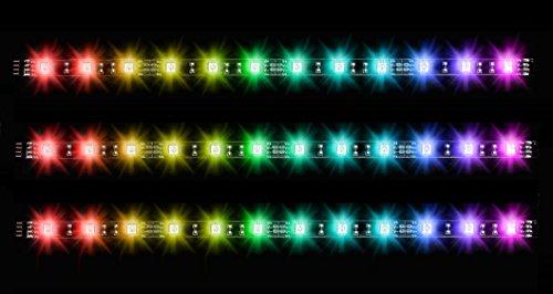 Thermaltake Pacific Lumi Plus - Pack de 3 Tiras LED (RGB, 16.8 millón Colores) Color Negro