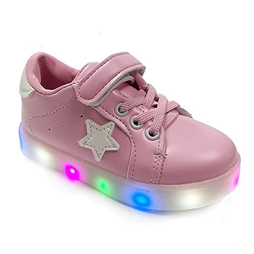 Naikly Kids LED LIGHT UP SHOPS UNISEX-NIÑO SPARTLE SPELETLE NIÑOS NIÑOS ZAPATOS CORRIENTE BEBÉ BEBÉ STRENDIENTE DE LOS NIÑOS LIGHTS Zapatillas de deporte luminosas para cumpleaños Día de Navidad de Ac
