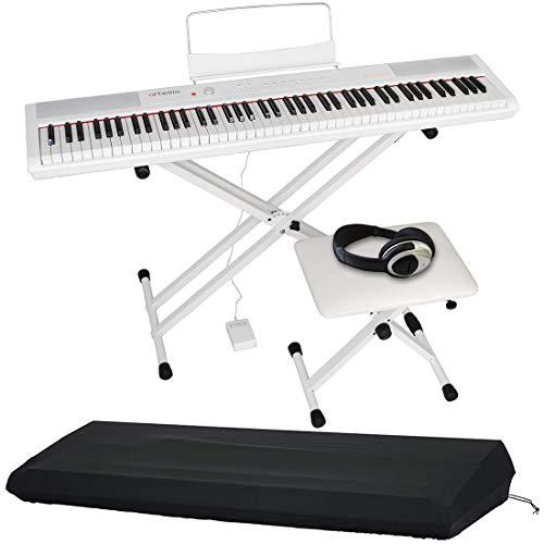 Artesia アルテシア デジタルピアノ (電子ピアノ) セット 88鍵 PERFORMER/WH ホワイト (サスティンペダル/スタンド/椅子/ヘッドフォン付属) + GATOR製ピアノカバー付き