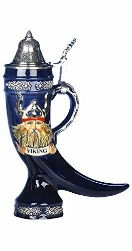 King Jarra de Cerveza Alemana Vikingo, Jarra en Forma de Cuerno, Jarra 0,4 litros KI...