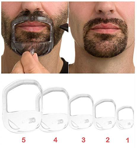 Zonster 5Pcs / Set Gute Qualität Dusche Salon Schnurrbart Bart Styling-Schablone Shaving Shave für Bart-Form-Art-Barba Comb-Sorgfalt-Werkzeug