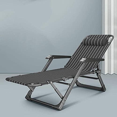 FVGBHN Sun Loungers Garden Outdoor Patio \U200Bsunlounger,Folding Recliner, Office Nap Folding Bed, Portable Recliner For Garden Outdoor Terrace-5