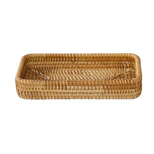 Tejido a Mano Fruit Bread Basket, cosméticos Caja de Almacenamiento de Escritorio, la Bandeja Multiusos, se Puede Utilizar for Aperitivos, Control Remoto, Llaves, pequeños artículos de Almacenamiento