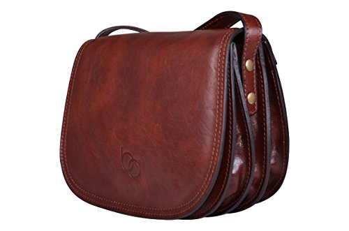 Damentasche, Italienische echt Leder,Umhängetasche, Satteltasche, Leder Handtasche, Saddle Bags, Crossover-Bags