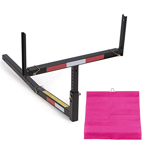 ECOTRIC Pick Up Truck Bed Hitch Extender Extension Rack Canoe Boat Kayak Lumber w/Flag