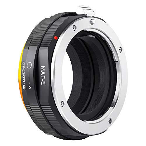 K&F Concept Lens Mount Adapter for Sony Alpha Minolta AF A-Type Lens to Sony NEX E-Mount Mirrorless Camera with Matting Varnish Design
