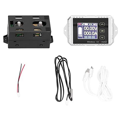 Amperímetro voltímetro CC con pantalla a color, herramientas eléctricas de medición duraderas con cable USB para personal de mantenimiento de baterías