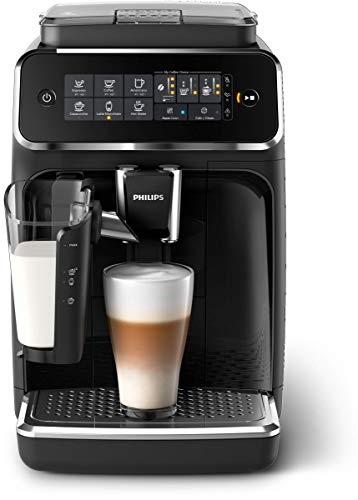 Philips 3200 Series Fully Automatic Espresso Machine w/ LatteGo, Black, EP3241/54