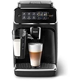 Philips 3200 series fully automatic espresso machine w/ lattego, black, ep3241/54 49 enjoy 5 coffees intuitive touch display 12-step grinder adjustment