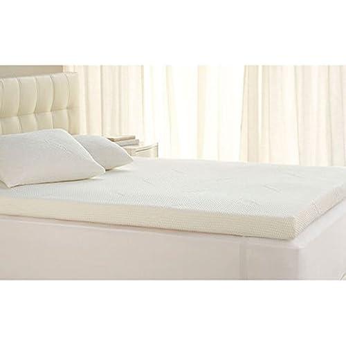 "Linenwalas Soft Memory Foam King Size Mattress Topper/Padding with Soft Designer Enclosure- 72""X78""2""- White"