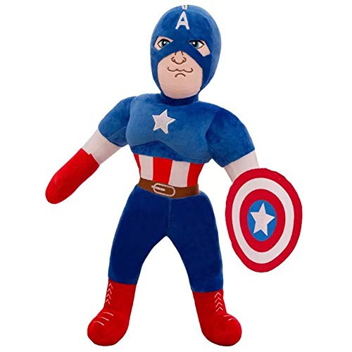 Avengers Peluche Eroe Capitan America Ragdoll Shield Warrior Doll Regalo di Compleanno Ragazze