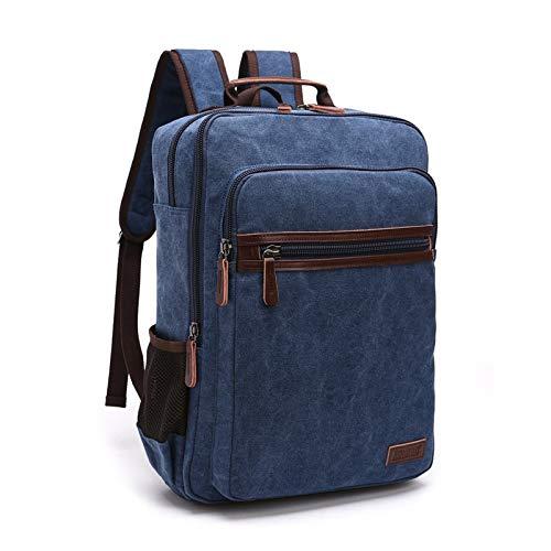 T-ara The Shoulder Strap Zipper Firm Fooling Bag Male Backpack School Bag Canvas Bag Designer Laptop Backpacks For Men Essential for hiking (Color : Deep Blue, Size : A)
