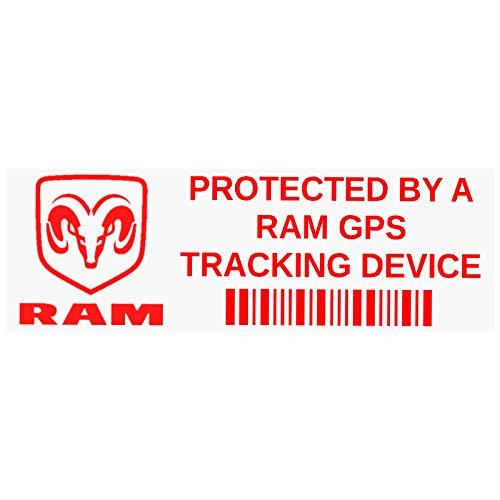 Platinum Place 5 x RAM GPS Tracking Stickers-Rood op Clear-Internal Window Application-Sign,Notice,Waarschuwing,Van,Truck,Car,Vehicle,Pickup,Wagon