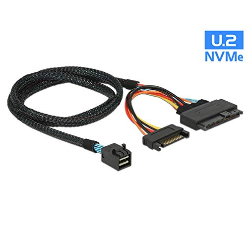 CableDeconn 8643 Mini-SAS-Kabel (intern, HD,0.5 m) Mini SAS SFF 8643 to 8639 with 15Pin SATA Power