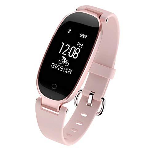 S3 A Prueba de Agua Bluetooth Bluetooth Smart Pulsera Watch Fitness Heart Rate Tracker Sports Smart Lady Clock,B