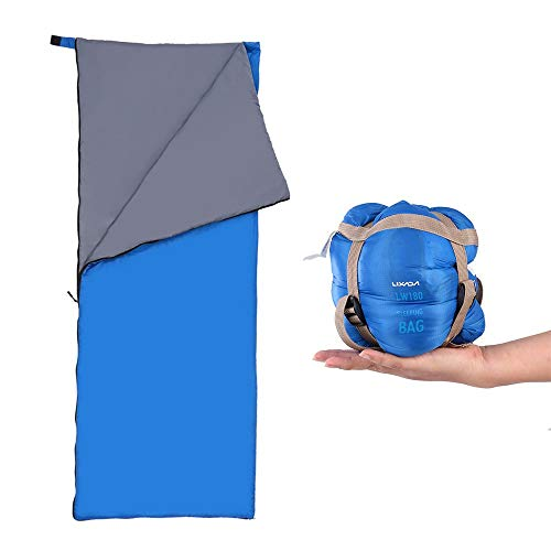 Lixada Saco de Dormir Ultraligero Compresible Multifuncional Saco de Dormir Rectangular 190 * 75cm 680g