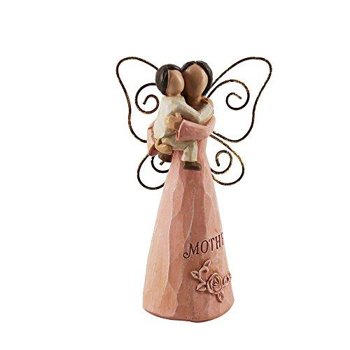JYSPT - Figura Decorativa de ángel con Soporte para Tarjeta de Fotos, para Boda, Oficina, cumpleaños, día de la Madre, Regalo, Pink Mother and Child Angel
