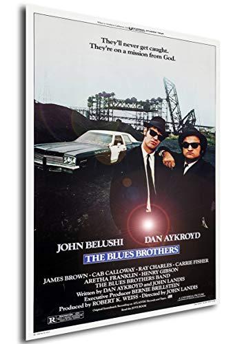 Instabuy Poster - Theaterplakat - The Blues Brothers B Manifesto 70x50