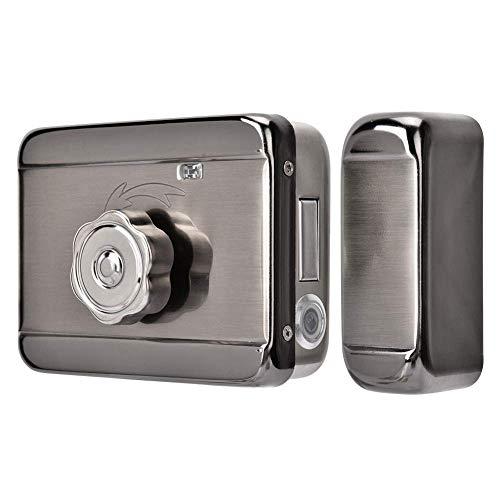 Cerradura de puerta electrónica, sistema de control de acceso de puerta DC 12V / 24V, cerradura automática de sonido de doble cabezal, para hogares, oficinas, escuelas, hoteles, fábricas, almacenes